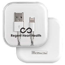 Apple® Lightning Cable, MFi Certified, in Clear Case
