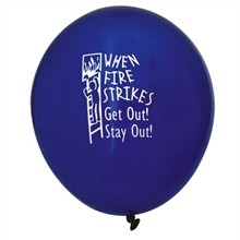When Fire Strikes, Get Out! Stay Out! Balloon, Stock - Closeout, On Sale!