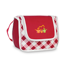 Poly Pro Gingham Lunch Cooler, Full Color - Free Set Up Charges!