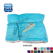"""Faux Lambswool Microsherpa Blanket, 50"""" x 60"""""""