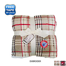 "Faux Lambswool Microsherpa Plaid Blanket, 50"" x 60"""