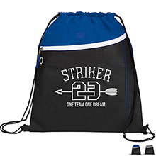 Slant Non-Woven Drawstring Cinch Backpack