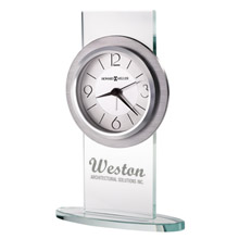 Howard Miller® Brookline Glass & Brushed Aluminum Clock