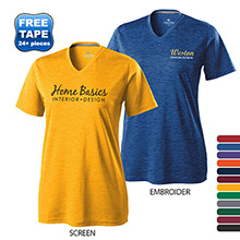 Holloway® Electrify Dry-Excel™ Heathered Ladies' Performance Tee