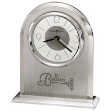Howard Miller® Argento Silver Clock