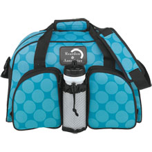 Aqua Dots Safari 600D Duffel Bag, 17-1/2""