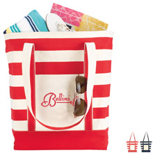 Norfolk Striped Cotton Tote - Free Set Up Charges!