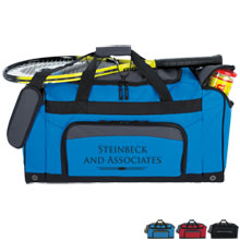 Bungee Top 600D Polyester Gym Duffel Bag, 23-5/8""