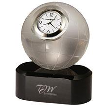 Howard Miller® Axis Globe Crystal Clock