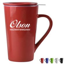 Tea Time Ceramic Mug Set, 15oz.