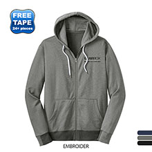 District Made® Mini Stripe Full-Zip Men's Hoodie