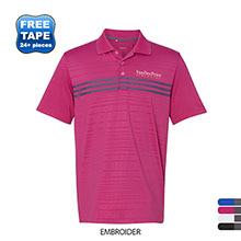 adidas® Golf Puremotion Three Stripe Chest Men's Polo