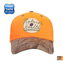 Blaze Polyester Twill Structured Cap with Camo Visor