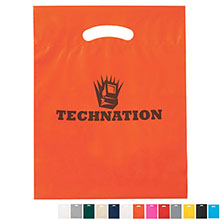 "Fold-Over Reinforced Die Cut Bag, 12"" x 15"""