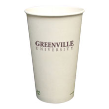 Biodegradable Hot Beverage Paper Cup, 16oz.