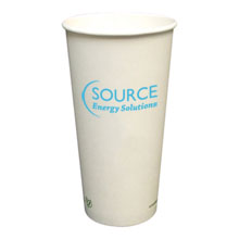 Biodegradable Hot Beverage Paper Cup, 20oz.