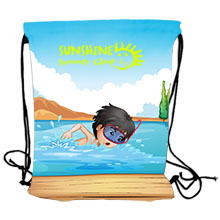 Full Color Polyester Drawstring Backpack