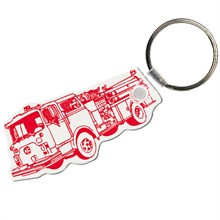 Soft Vinyl Key Tag, Fire Truck