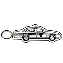Soft Vinyl Key Tag, Police Car