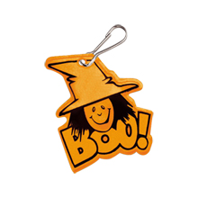 Halloween Reflective Hook Zipper Pull, Witch - Stock