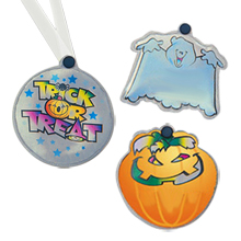 Halloween Reflective Neck Tags, Stock
