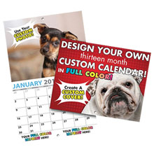 Completely Custom Wall Calendar, 13-Month