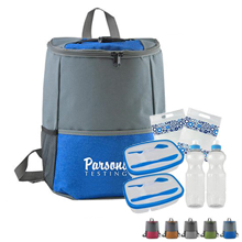 Chic Cooler Backpack Picnic Set For Two