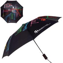 """Chicago CTA Map Umbrella, 43"""" Arc"""