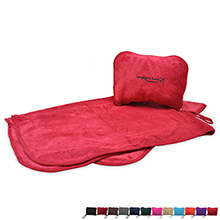 Convertible Travel Nap Blanket with Pillow Cover
