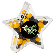Star Candy Container with Chocolate Sunflower Seeds