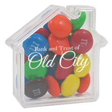 House Candy Container with M&Ms