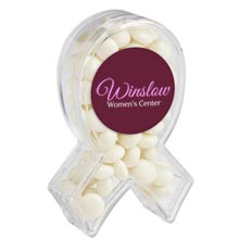 Awareness Ribbon Candy Container with White Mints