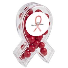 Awareness Ribbon Candy Container with Fresh Gems Mints