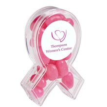 Awareness Ribbon Candy Container with Gourmet Jelly Beans