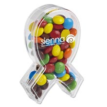 Awareness Ribbon Candy Container with Mini M&Ms