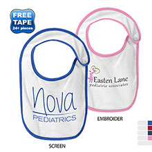 Precious Cargo® Terry Contrast Piping Infant Bib