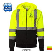 ML Kishigo®  Hi-Vis Hooded Full-Zip Men's Sweatshirt