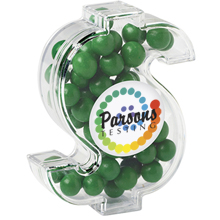 Dollar Sign Candy Container with Fresh Gems Mints
