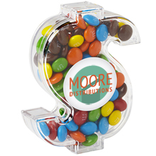 Dollar Sign Candy Container with Mini M&Ms