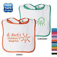 Rabbit Skins® Cotton Terry Contrast Color Infant Snap Bib