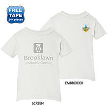 Rabbit Skins® Cotton Jersey Infant T-Shirt, White