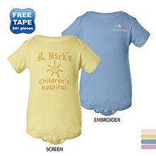 Rabbit Skins® Pastels Ringspun Cotton Lap Shoulder Infant Creeper