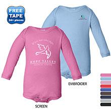 Rabbit Skins® Lap Shoulder Long Sleeve Infant Creeper, Colors