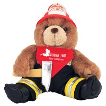 Axe Firefighter Plush Bear, 8""