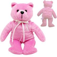 "Breast Cancer Awareness Plush Bear, 8"""