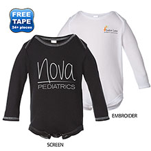 Bella + Canvas® Long Sleeve Thermal Infant Creeper