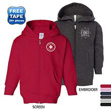 Rabbit Skins® Hooded Full-Zip Toddler Sweatshirt
