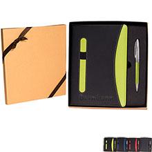 Janus Two-Tone Journal & Pen Gift Set