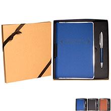 Apollo Metallic-Trim Journal & Pen Gift Set