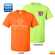 JERZEES® Dri-Power® Active 50/50 Performance Tee, Safety Colors